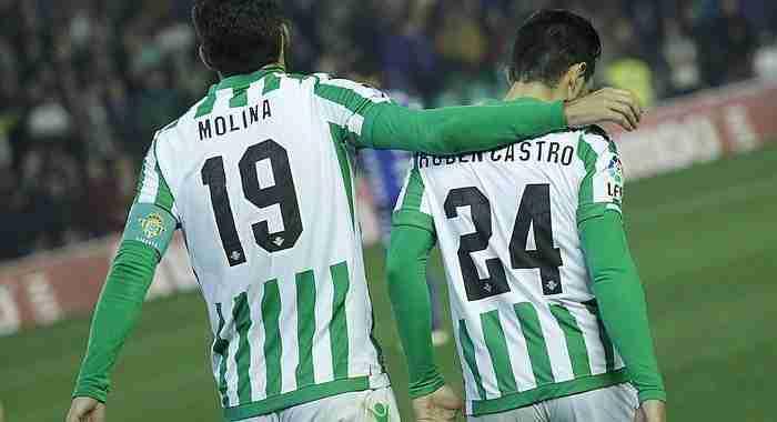 Jorge Molina y Rubén Castro betis