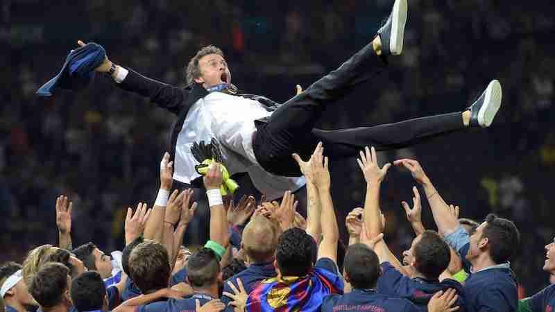 Luis Enrique champions
