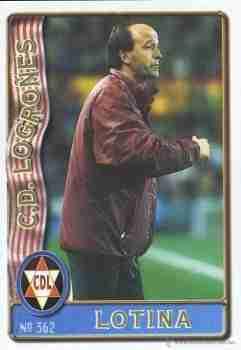 Cromo Lotina entrenador del CD Logroñés