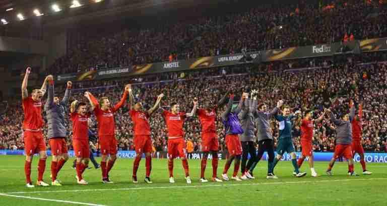 Los jugadores celebrando el pase a semifinales