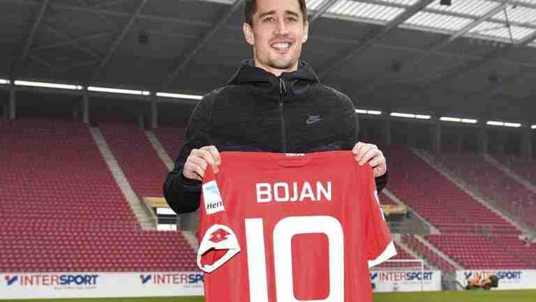 Bojan, presentado con el Maintz 05 (AP)
