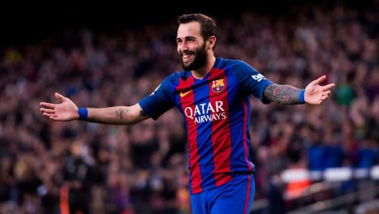 Aleix, celebrando uno de sus goles (Álex Caparrós / Getty Images)