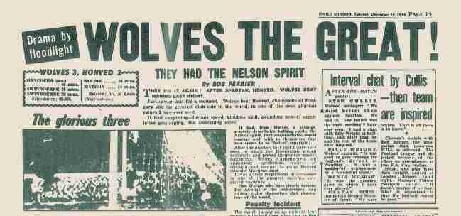 """La prensa inglesa no dudó en utilizar la victoria de los Wolves como el ejemplo de que Inglaterra volvía a reinar: """"Tuvieron el espíritu de Nelson"""