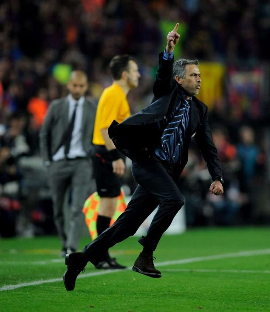 José Mourinho celebra clasificación Barcelona Inter de Milán