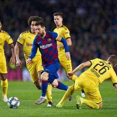 Messi contra el Dortmund