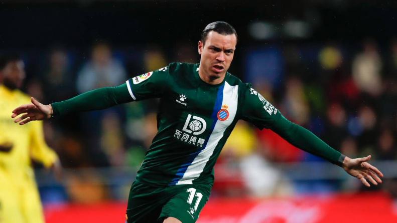 Raúl de Tomas celebra gol Espanyol