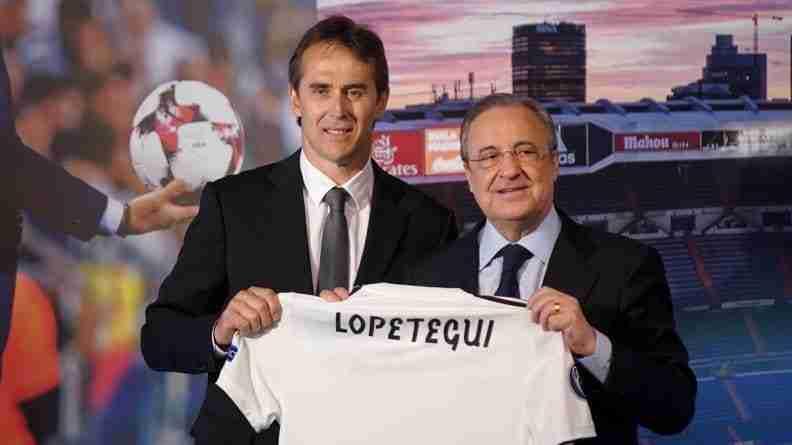 Presentación de Julen Lopetegui como primer entrenador del Real Madrid, tras su cese como seleccionador nacional español