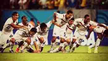 Costa Rica celebra penaltis contra Grecia Mundial Brasil 2014