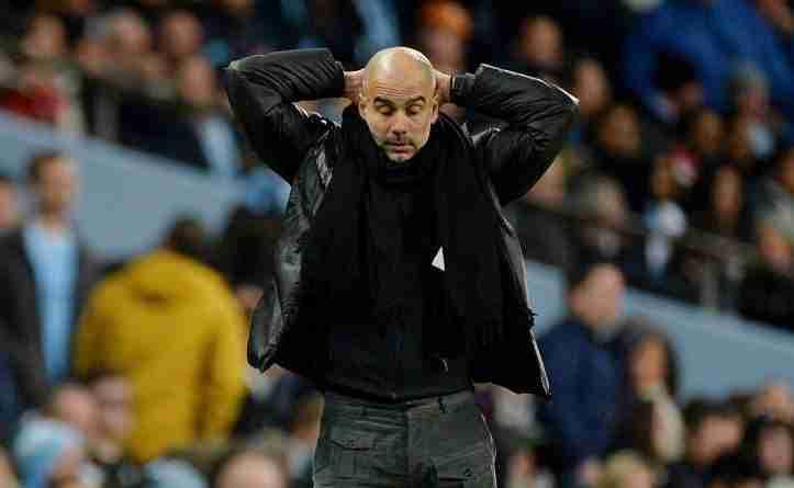 Pep Guardiola desesperado