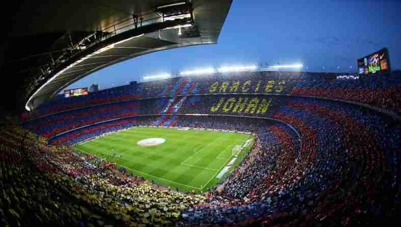 Camp Nou mosaico Cruyff