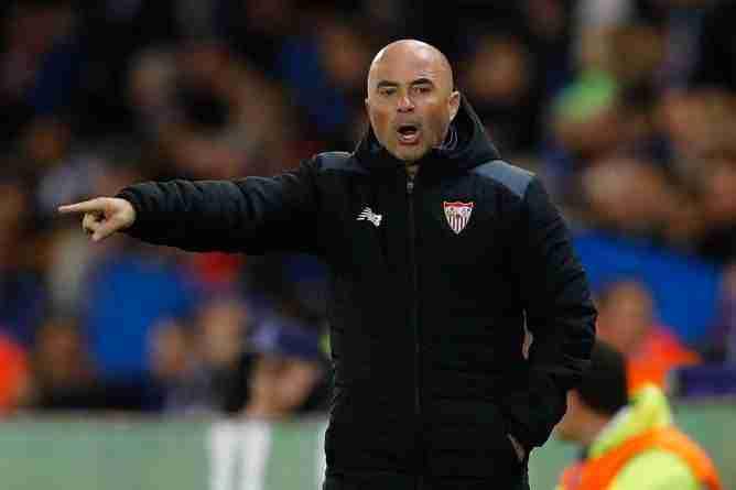 Jorge Sampaoli en su etapa como entrenador del Sevilla Fútbol Club