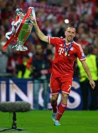 Franck Ribéry celebrando la Liga de Campeones de 2013