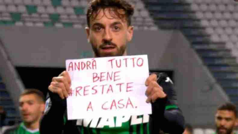 Caputo Sassuolo COVID-19