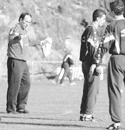 Jabo Irureta entrenando al Celta de Vigo