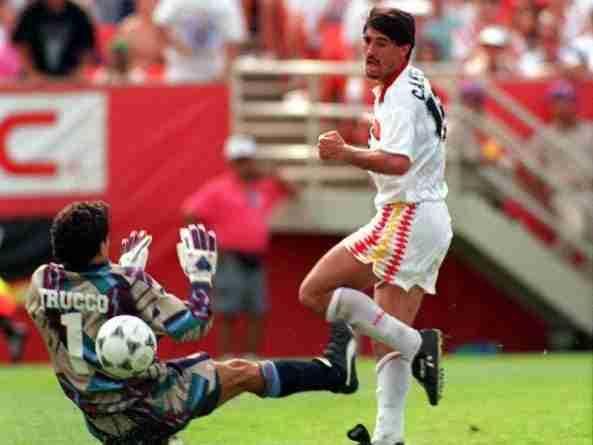 Caminero gol Bolivia Mundial Estados Unidos 1994
