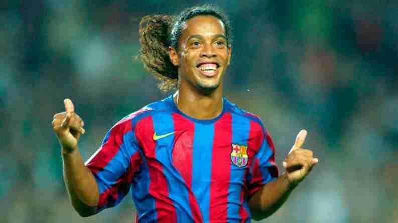 Ronaldinho y su sonrisa