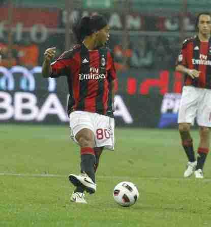 Ronaldinho con el AC Milan