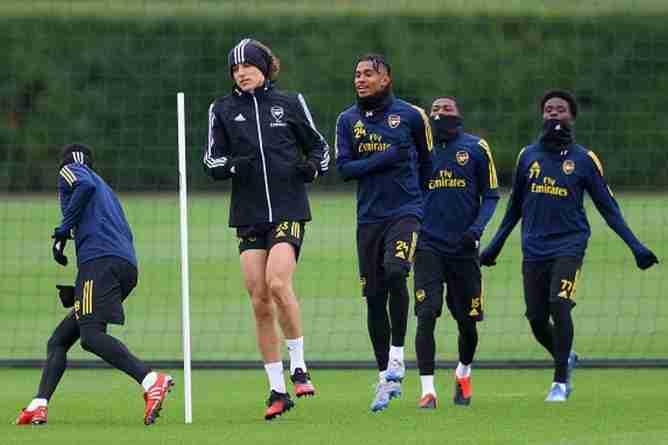 Arsenal entrenamiento