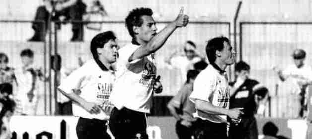 Ismael Urzaiz celebra gol Salamanca