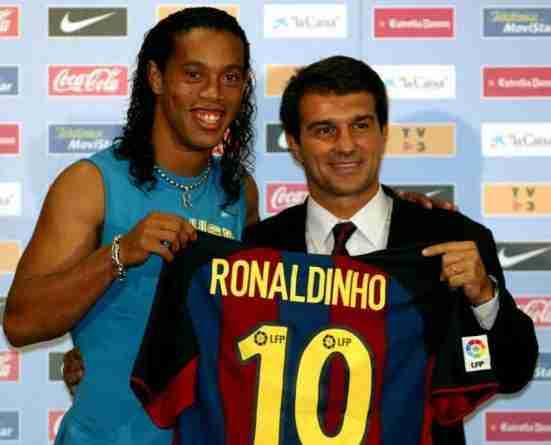 Presentación Ronaldinho FC Barcelona