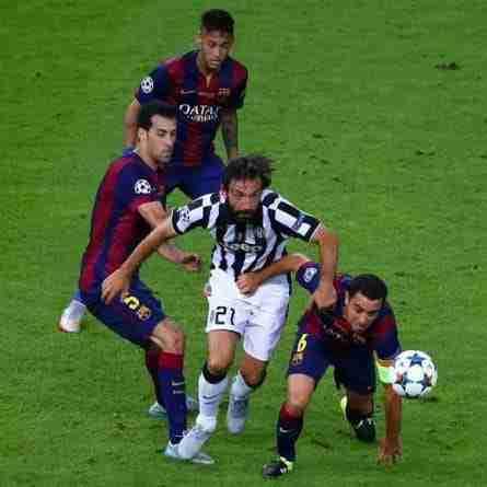 Andrea Pirlo en la Final de la Liga de Campeones de 2015