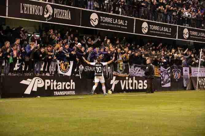 Celebración gol Castellón Segunda B