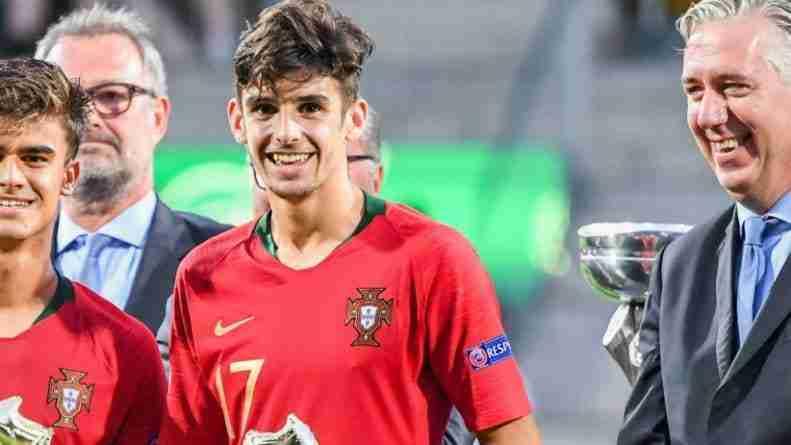 Trincao, campeón de Europa sub 19 con Portugal