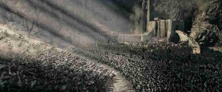 La batalla del Abismo de Helm. El Señor de los Anillos: Las dos Torres