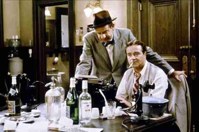 Walter Matthau y Jack Lemmon en una escena de Primera Plana, de Billy Wilder