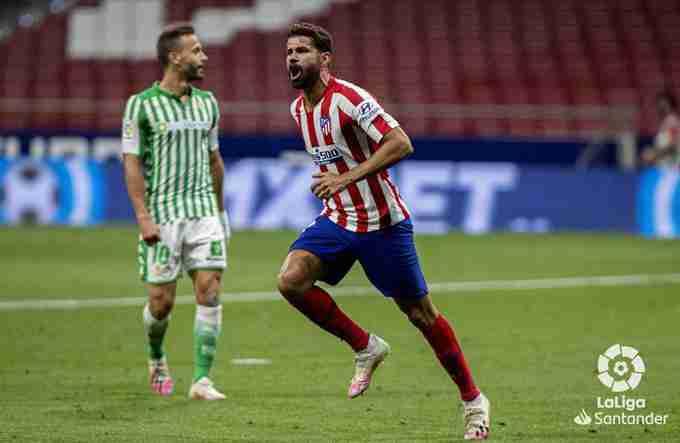 Diego Costa celebra gol Atlético Madrid Betis