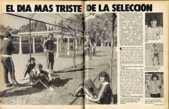 Revista El Gráfico el día en que Menotti dejó a varios jugadores fuera de la lista del Mundial