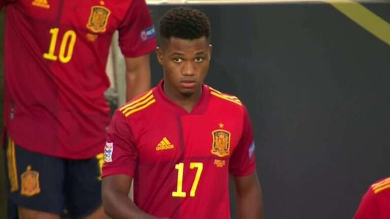 Ansu Fati debut España