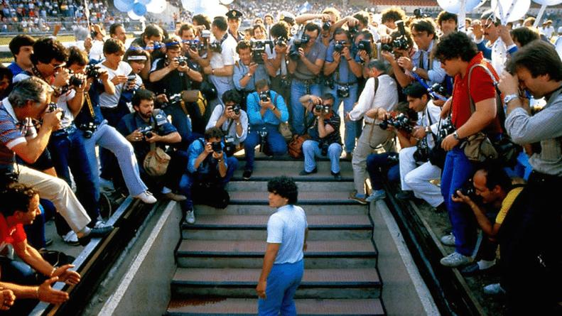 Presentación de Diego Maradona en Nápoles