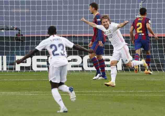 Modric celebra gol Barcelona Madrid