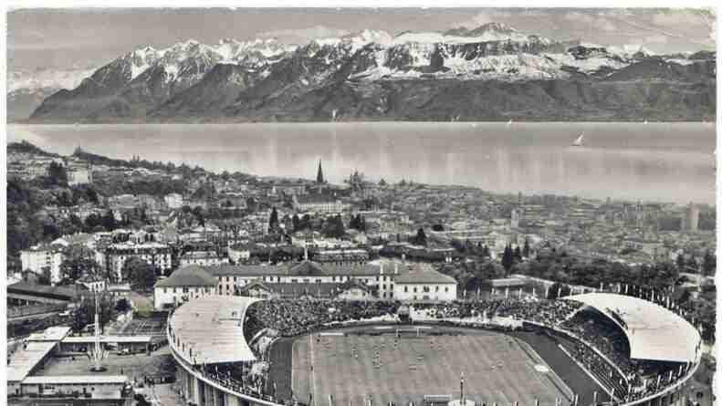La semifinal del Mundial de Suiza de 1954 se jugó en el histórico Estadio de La Pontaise, en Lausana.