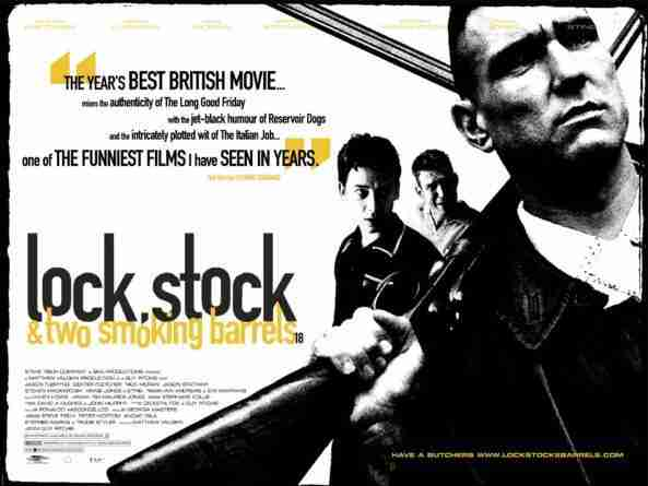 La primera película de Guy Ritchie, Lock and Stock, con Vinnie Jones, se ha convertido en un film de culto.