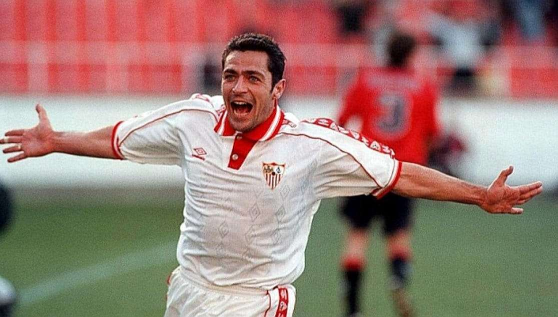 Gabi Moya celebra gol Sevilla