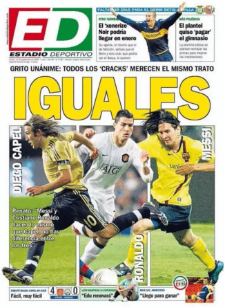 Portada de Estadio Deportivo Diego Capel fue comparado con Cristiano Ronaldo y Lionel Messi