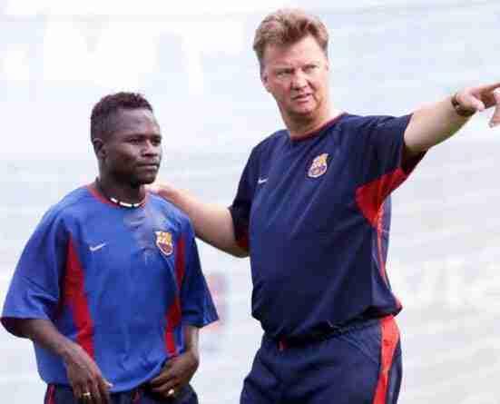Haruna Babangida y Louis Van Gaal