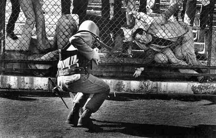 El Estadio Nacional de Chile en 1973 durante la dictadura
