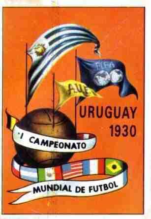 Uno de los carteles del Mundial de Uruguay de 1930