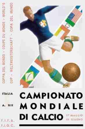Cartel Mundial Italia 34