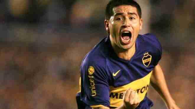 Riquelme celebra gol Boca Juniors
