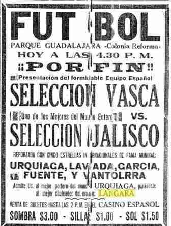 Selección vasca en Jalisco