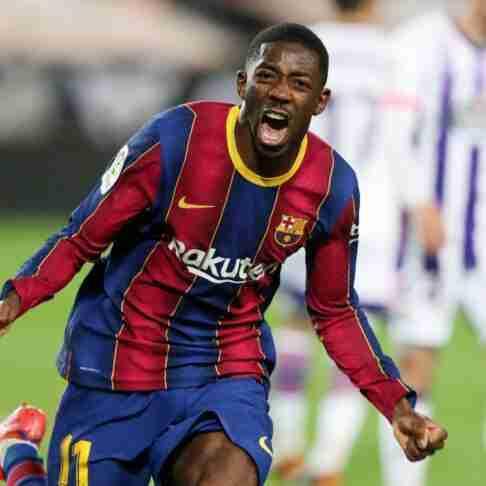 Ousmane Dembélé celebración gol Valladolid
