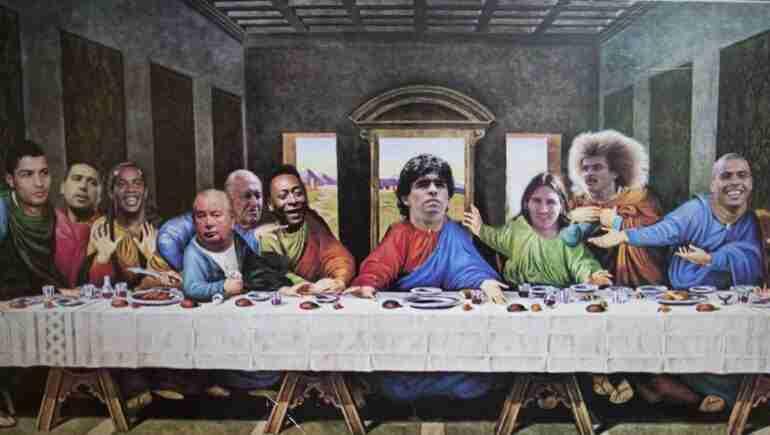santa cena fútbol