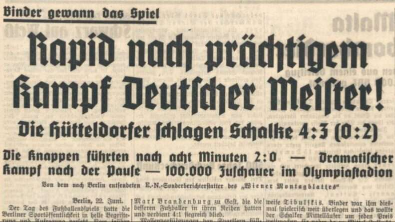 Periódico Rapid Viena campeón Alemania