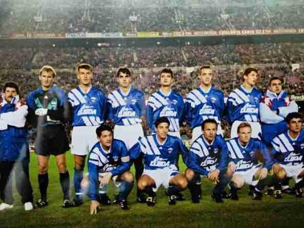 Once de la UD Lleida Barcelona 1993 con Mauro Ravnic